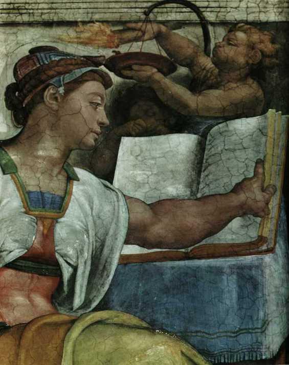1509 Voute de la Chapelle Sixtine La sibylle d_Erythree